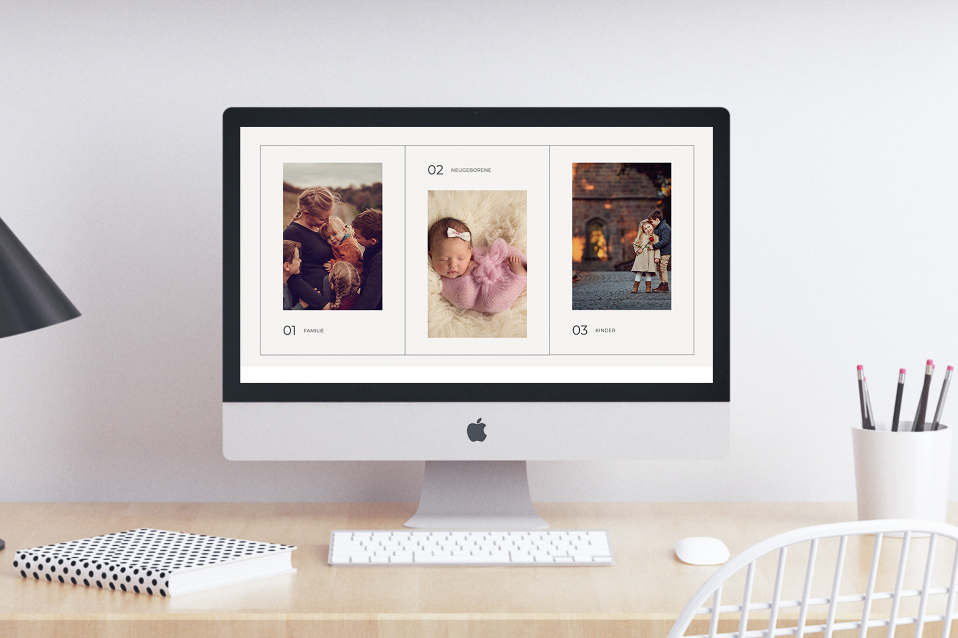 Webdesign Fotografie für Fotografen Flothemes schlicht edel Webdesignerin Website Gestaltung